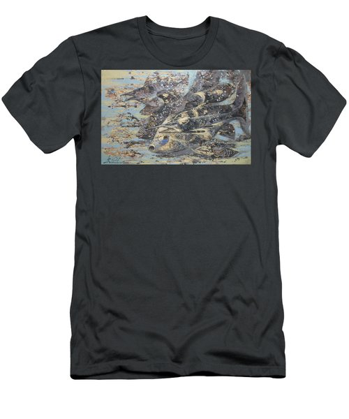 Fishes. Monotype Men's T-Shirt (Athletic Fit)
