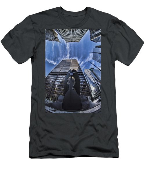 Fisheye View Of Chicago's Picasso Men's T-Shirt (Athletic Fit)