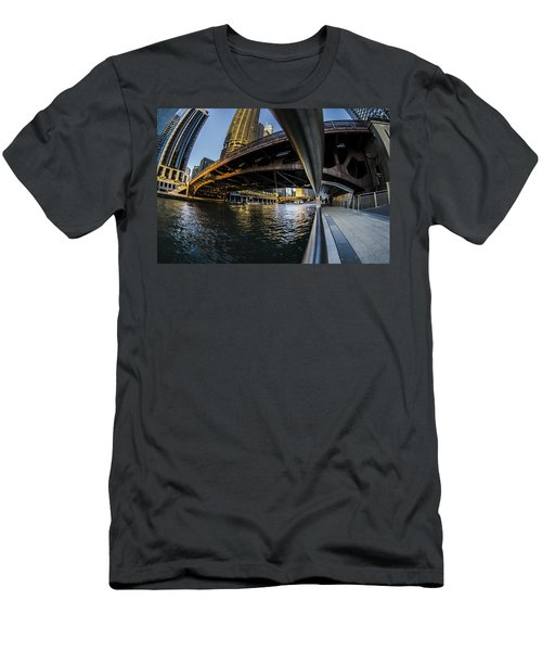 Fisheye View From The Chicago Riverwalk Men's T-Shirt (Athletic Fit)