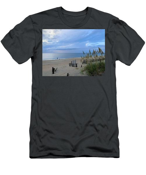 Men's T-Shirt (Athletic Fit) featuring the photograph Fishing At Fish Heads 8/19 by Barbara Ann Bell