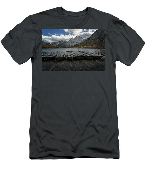Fishing Boats Along The Shore Men's T-Shirt (Athletic Fit)