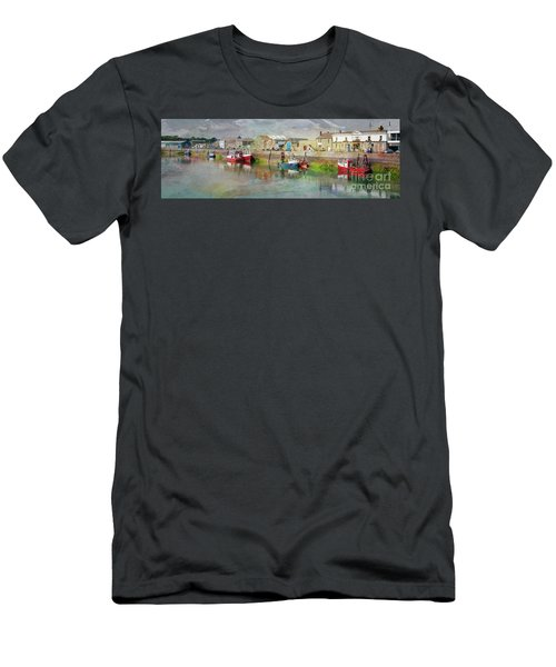 Fishing Boats In Ireland Men's T-Shirt (Athletic Fit)