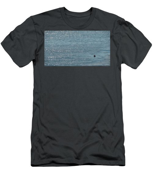 Men's T-Shirt (Slim Fit) featuring the photograph Fishing In The Ocean Off Palos Verdes by Joe Bonita
