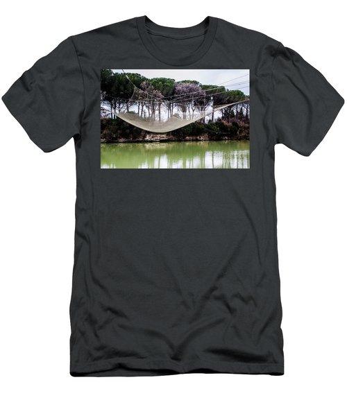Fishing Net Men's T-Shirt (Slim Fit) by Ana Mireles