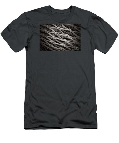Fishing Nets Men's T-Shirt (Slim Fit) by Clare Bevan