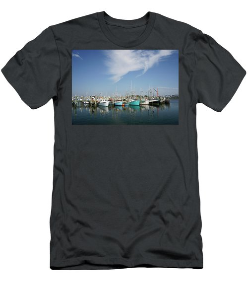 Fishing Vessels At Galilee Rhode Island Men's T-Shirt (Athletic Fit)