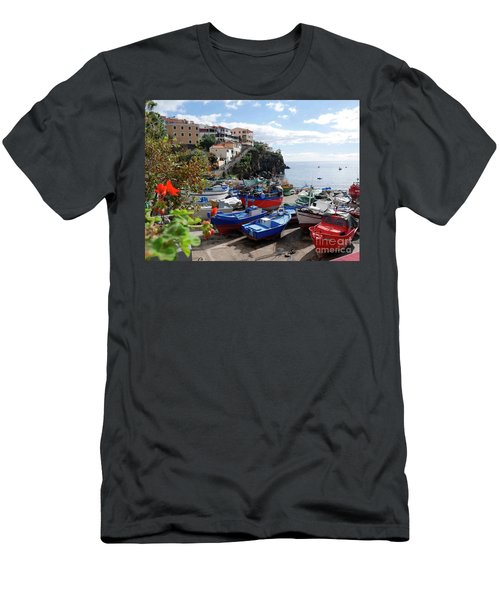 Fishing Village On The Island Of Madeira Men's T-Shirt (Athletic Fit)