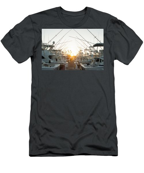 Fishing Yachts Men's T-Shirt (Athletic Fit)
