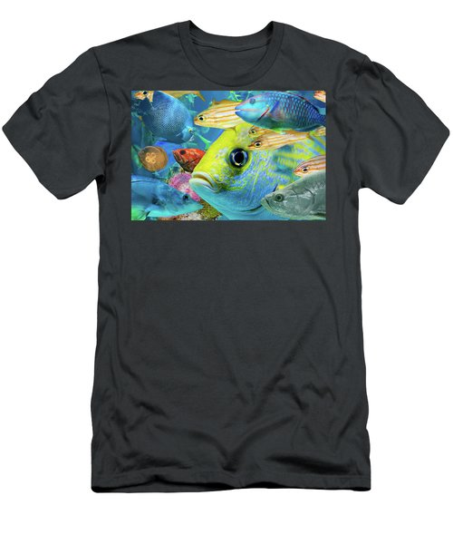 Fishy Collage 02 Men's T-Shirt (Athletic Fit)
