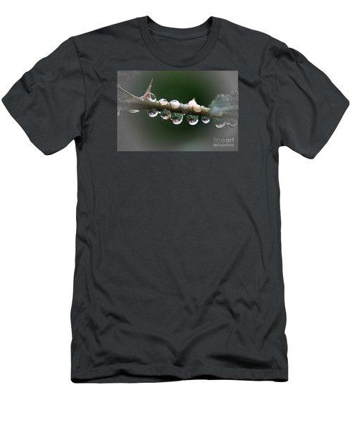 Five Droplets Men's T-Shirt (Slim Fit) by Yumi Johnson