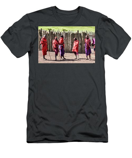 Five Maasai Warriors Men's T-Shirt (Athletic Fit)