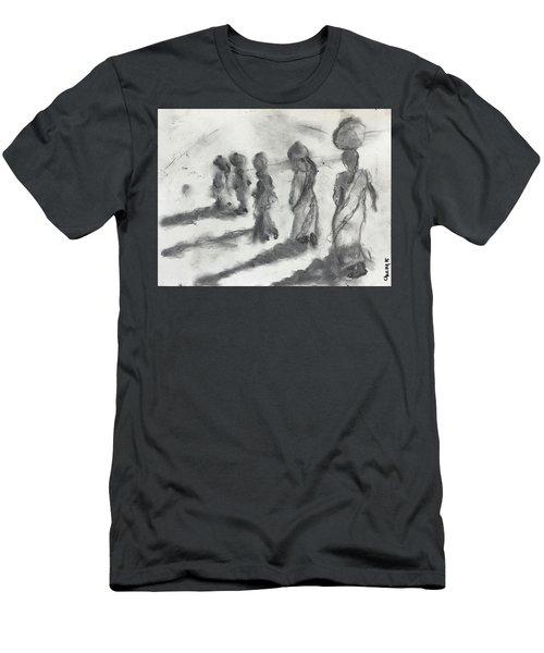 Five Women Immigrants Men's T-Shirt (Athletic Fit)