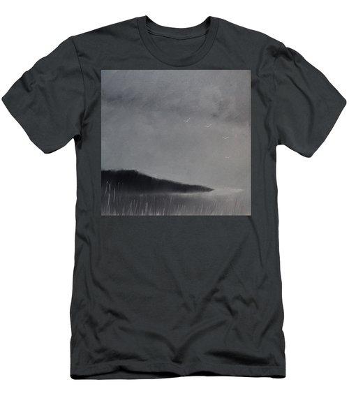 Fjord Landscape Men's T-Shirt (Slim Fit) by Tone Aanderaa