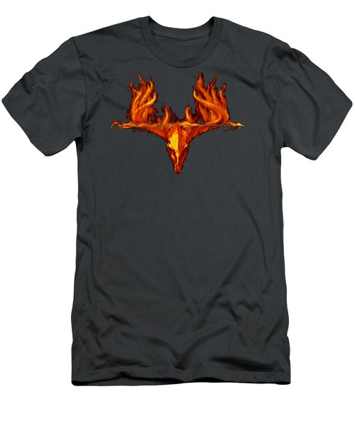 Flame On Buck With Arrow Men's T-Shirt (Athletic Fit)