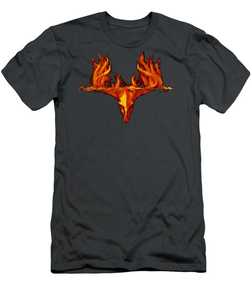 Flame On Buck With Arrow Men's T-Shirt (Slim Fit) by Rob Corsetti