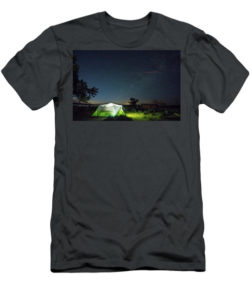 Flaming Sky Men's T-Shirt (Athletic Fit)