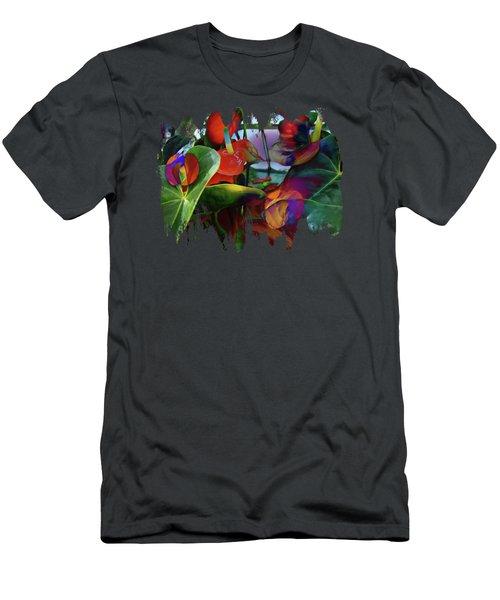 Flamingo Lily Anthurium Men's T-Shirt (Athletic Fit)