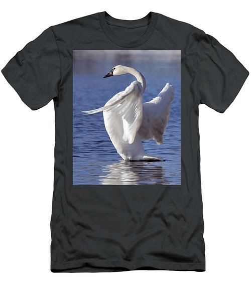 Flapping Swan Men's T-Shirt (Athletic Fit)