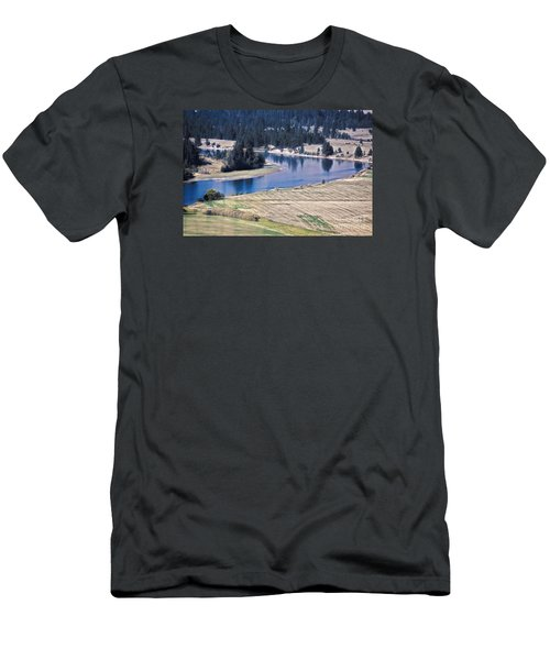 Flathead River 1 Men's T-Shirt (Slim Fit) by Janie Johnson