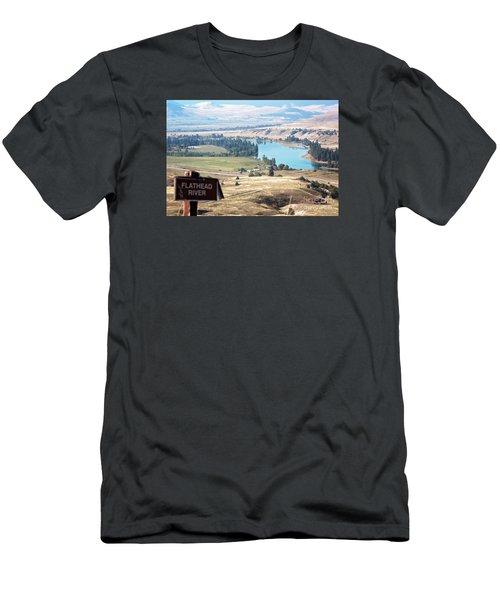 Flathead River 4 Men's T-Shirt (Slim Fit) by Janie Johnson