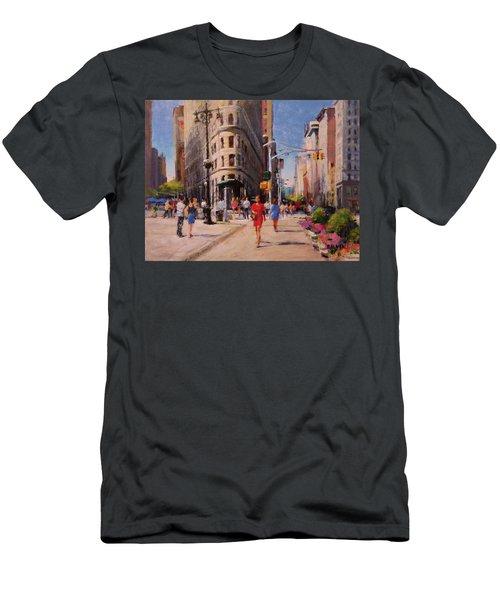 Flatiron Plaza, Summer Morning Men's T-Shirt (Athletic Fit)