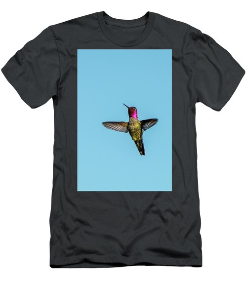Flight Of A Hummingbird Men's T-Shirt (Athletic Fit)