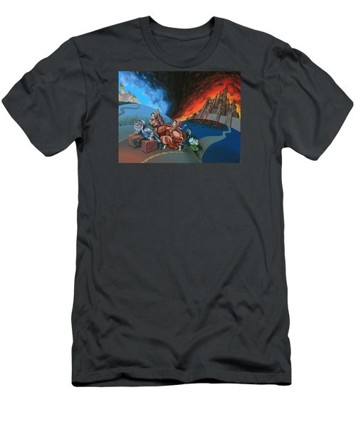 Flight Of Lot Out From Sodom Men's T-Shirt (Athletic Fit)