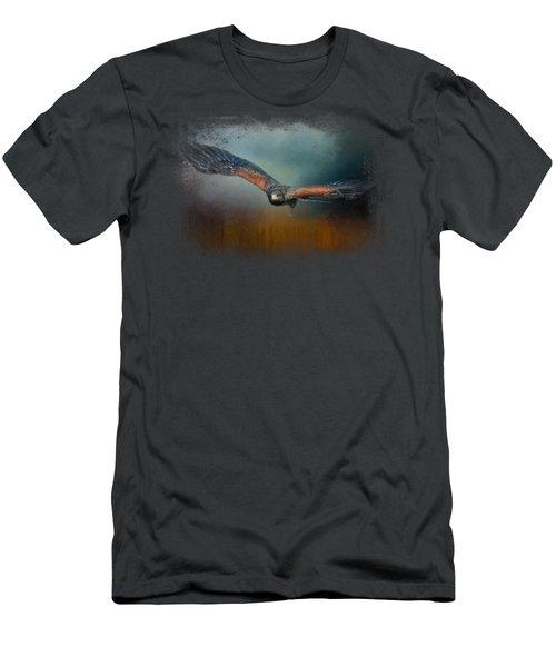 Flight Of The Harris Hawk Men's T-Shirt (Slim Fit) by Jai Johnson