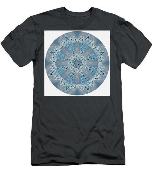 Flight Of The Tundra Swan Mandala Men's T-Shirt (Athletic Fit)