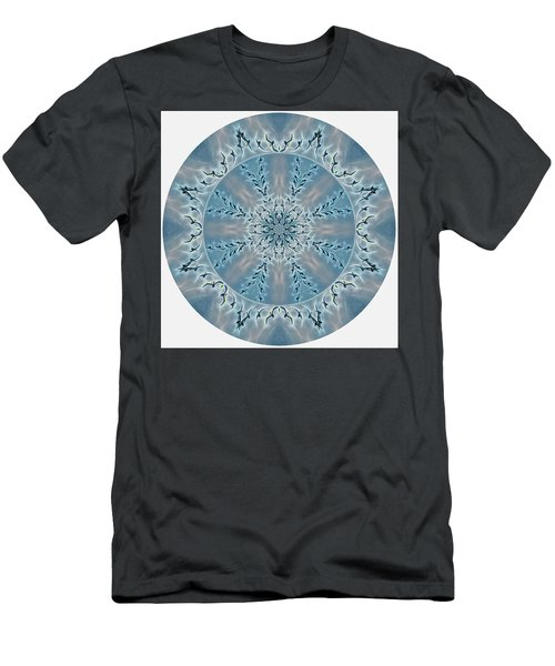 Flight Of The Tundra Swan Mandala Men's T-Shirt (Athletic Fit)