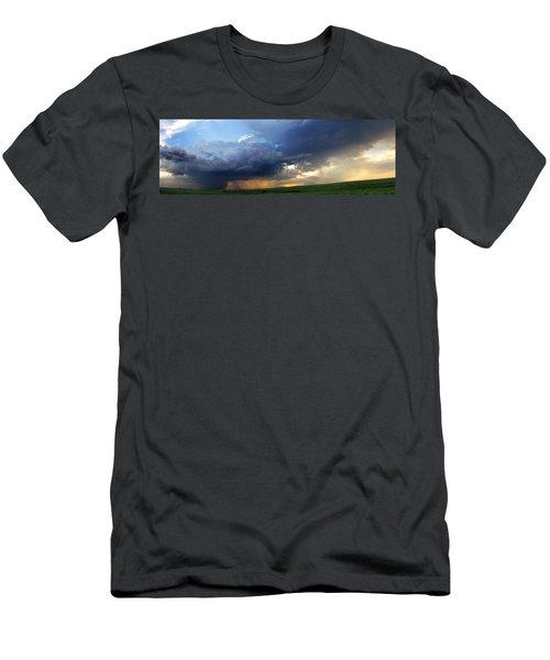 Flint Hills Storm Panorama 2 Men's T-Shirt (Athletic Fit)