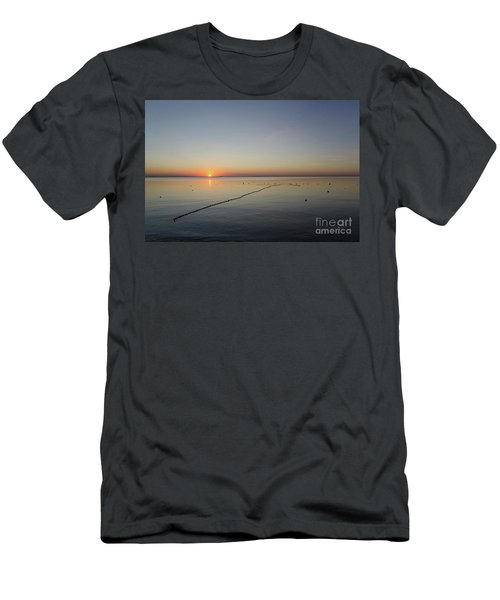 Men's T-Shirt (Slim Fit) featuring the photograph Floating Fishnet by Kennerth and Birgitta Kullman