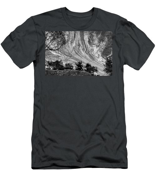 Floating Oil Spill On Water Men's T-Shirt (Athletic Fit)