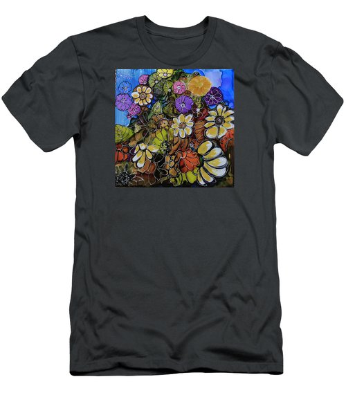 Men's T-Shirt (Slim Fit) featuring the painting Floral Boquet by Suzanne Canner