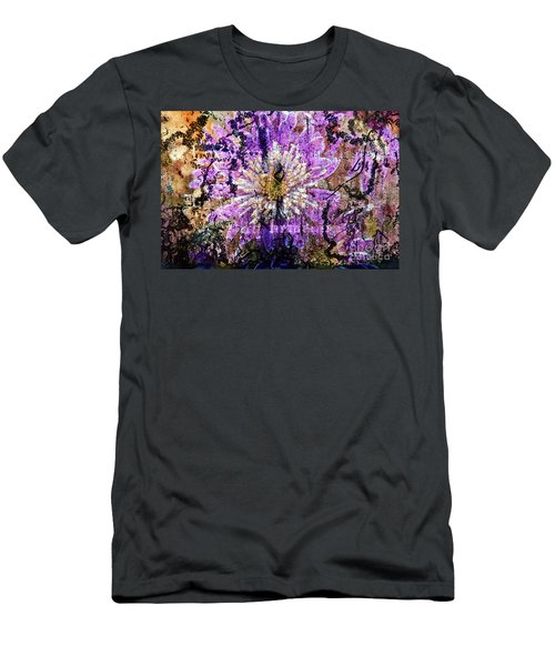 Men's T-Shirt (Athletic Fit) featuring the digital art Floral Poetry Of Time by Silva Wischeropp