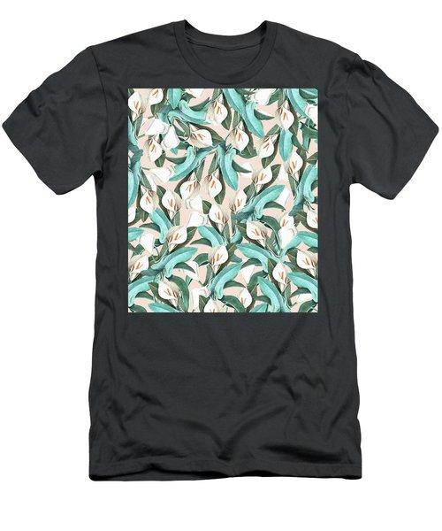 Floral Porn Men's T-Shirt (Slim Fit) by Uma Gokhale