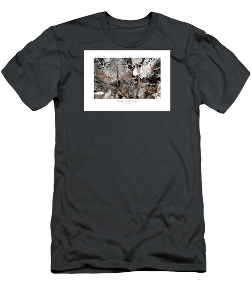 Men's T-Shirt (Athletic Fit) featuring the digital art Floral Structure by Julian Perry