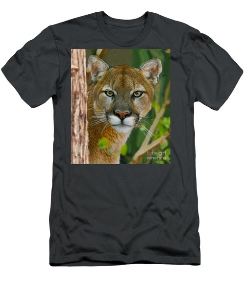 Florida Panther Men's T-Shirt (Slim Fit) by Larry Nieland