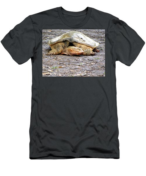 Men's T-Shirt (Slim Fit) featuring the photograph Florida Softshell Turtle 000 by Chris Mercer