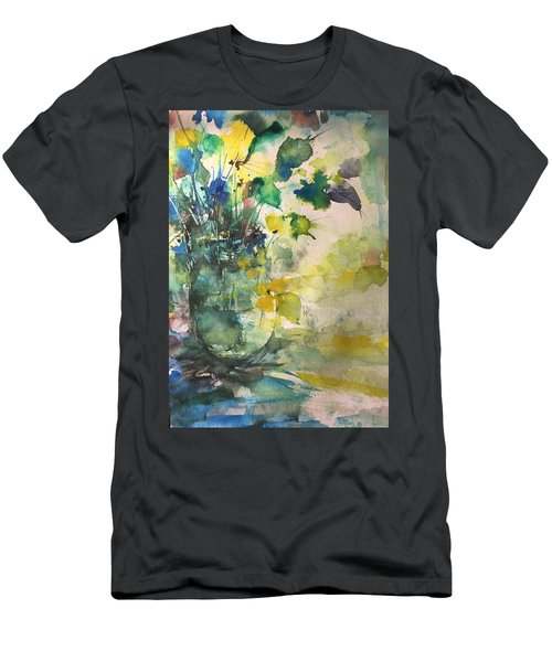 Flower And Vase Stilllife  Men's T-Shirt (Athletic Fit)