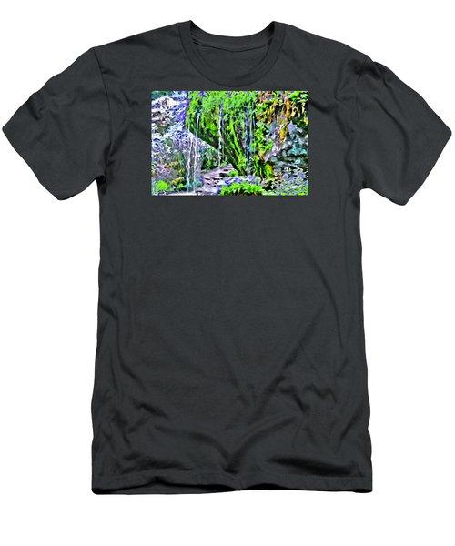 Flower Falls Men's T-Shirt (Athletic Fit)