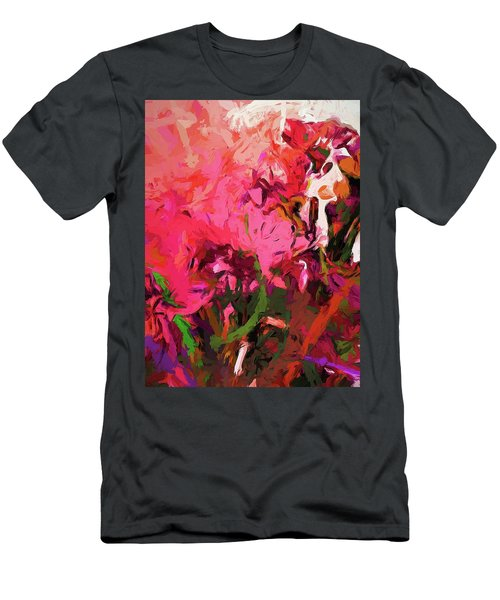Flower Flames Soul Pink Men's T-Shirt (Athletic Fit)