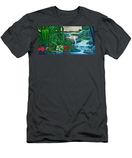 Flower Garden Ix Men's T-Shirt (Athletic Fit)