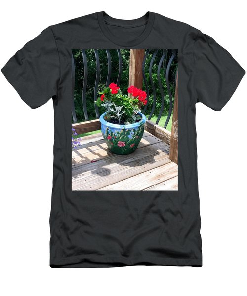 Flower Pot Men's T-Shirt (Athletic Fit)