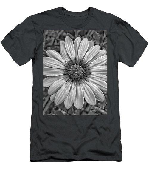 Flower Power - Bw Men's T-Shirt (Athletic Fit)