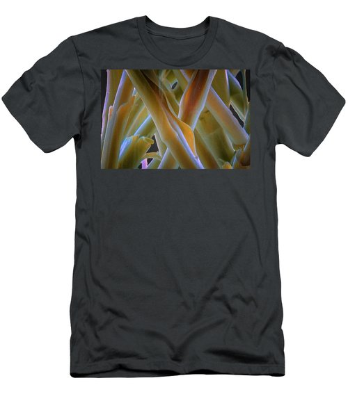 Men's T-Shirt (Athletic Fit) featuring the photograph Flower Stems by Tom Singleton