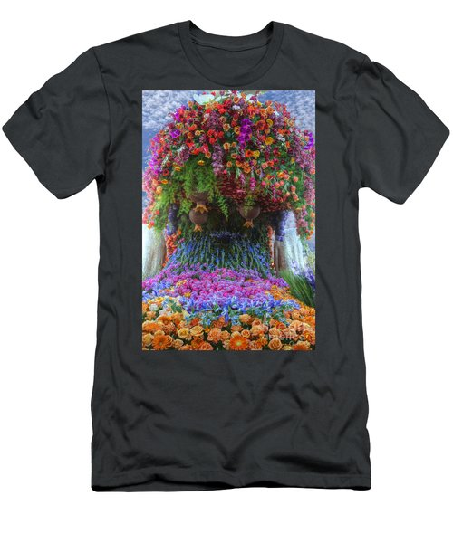 Flower Wave Men's T-Shirt (Athletic Fit)