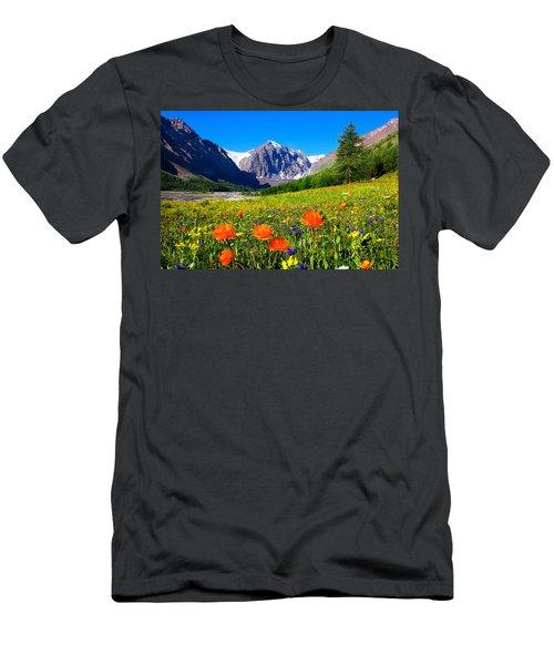 Flowering Valley. Mountain Karatash Men's T-Shirt (Athletic Fit)