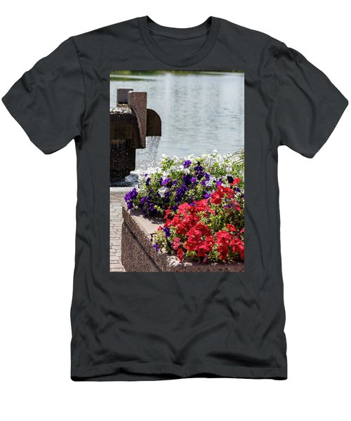 Flowers And Water Men's T-Shirt (Athletic Fit)