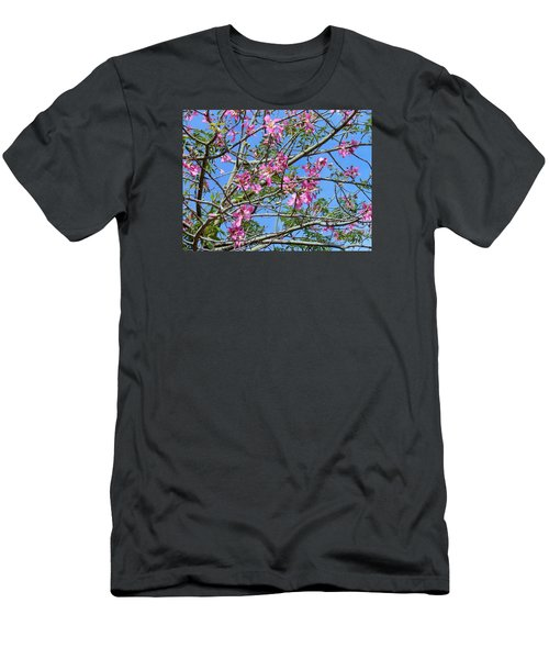 Flowers At Epcot Men's T-Shirt (Slim Fit) by Kay Gilley